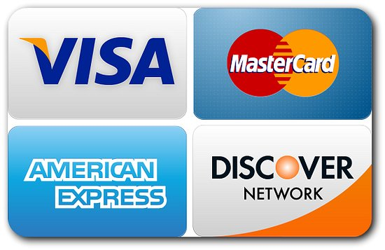Visa Mastercard American Express DiscoverCard